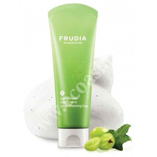 Себорегулирующая скраб-пенка для умывания с зеленым виноградом Frudia (фото)