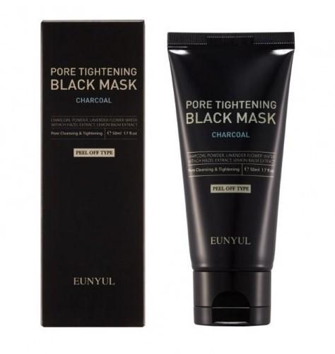 Черная маска пленка сужающая поры с углем Pore Tightening Black Mask Eunyul (фото)