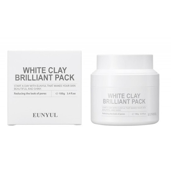 Очищающая маска для лица с белой глиной White Clay Brilliant Pack Eunyul (фото)