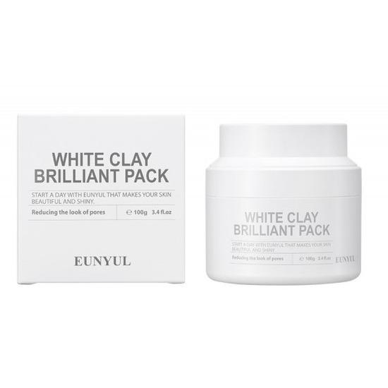 Очищающая маска для лица с белой глиной White Clay Brilliant Pack Eunyul (фото)