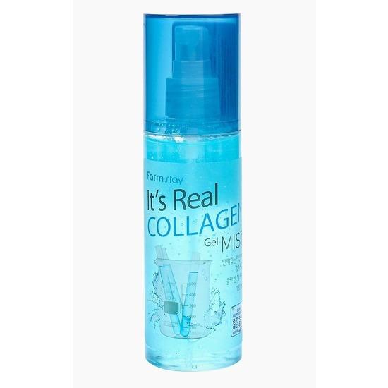 Гель-спрей для лица с коллагеном It's Real Gel Mist Collagen FarmStay
