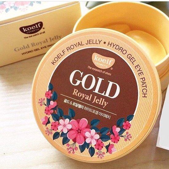Гидрогелевые патчи для век с частицами коллоидного золота и маточным молочком Royal Jelly Hydrogel Eye Patch KOELF (фото)