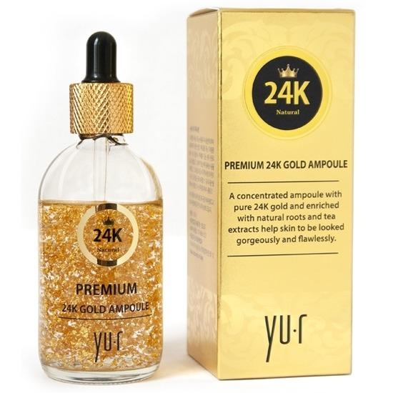 Омолаживающая сыворотка для лица с 24К золотом Премиум Yu.R (фото)