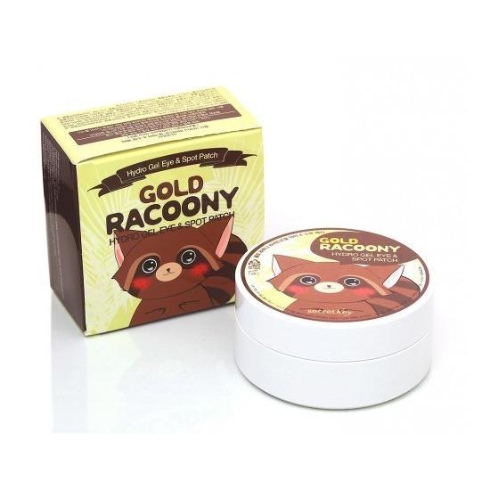Гидрогелевые золотые патчи для кожи вокруг глаз Gold Racoony Secret Key (фото)