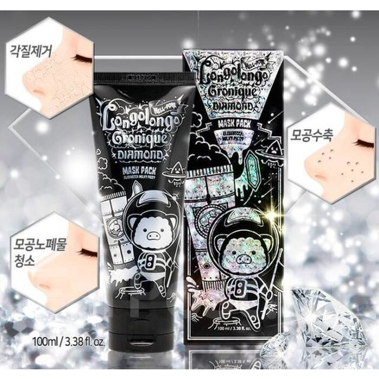 Бриллиантовая маска-плёнка для лица с алмазным порошком Elizavecca (фото)