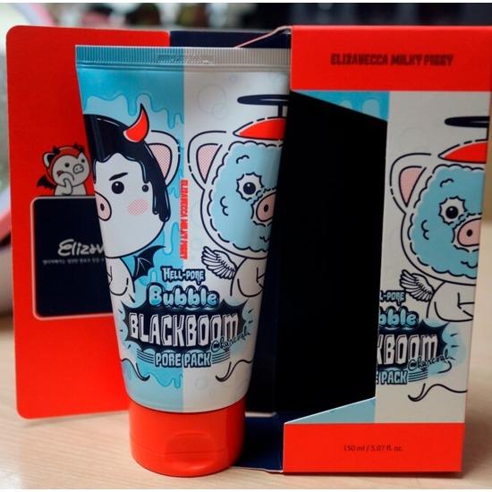 Кислородная маска для очищения пор Hell-Pore Bubble Blackboom Pore Pack Elizavecca (фото)