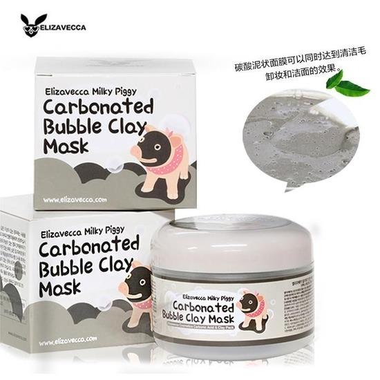 Кислородная глиняно-пузырьковая маска для сужения пор Carbonated Bubble Clay Mask Elizavecca (фото)