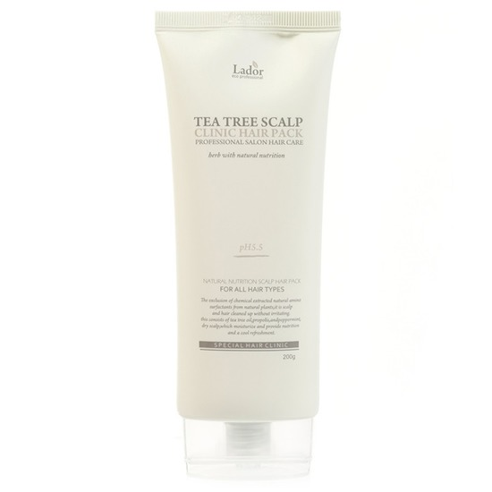 Маска-пилинг для очищения кожи головы с экстрактом чайного дерева Tea Tree Scalp Clinic Hair Pack Lador