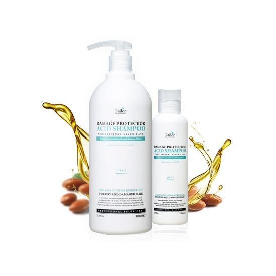 Шампунь для волос с аргановым маслом и протеинами шелка Damaged Protector Acid Shampoo Lador (фото)