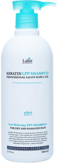 Беcсульфатный шампунь для волос с кератином Keratin LPP Shampoo Lador (фото, Беcсульфатный шампунь для волос с кератином Lador)