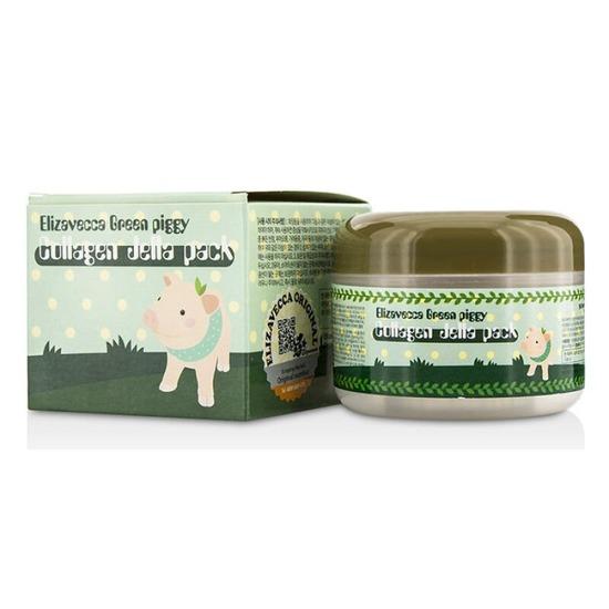 Желейная лифтинг маска для лица с коллагеном Green Piggy Collagen Jella Pack Elizavecca (фото)