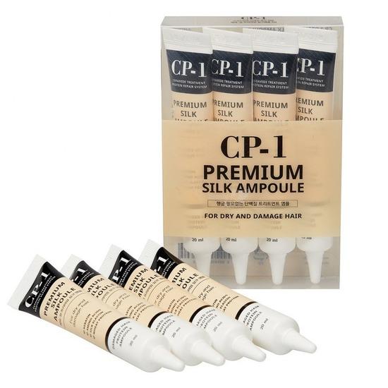 Несмываемая сыворотка для волос с протеинами шёлка CP-1 Premium Silk Ampoule Esthetic House (фото)