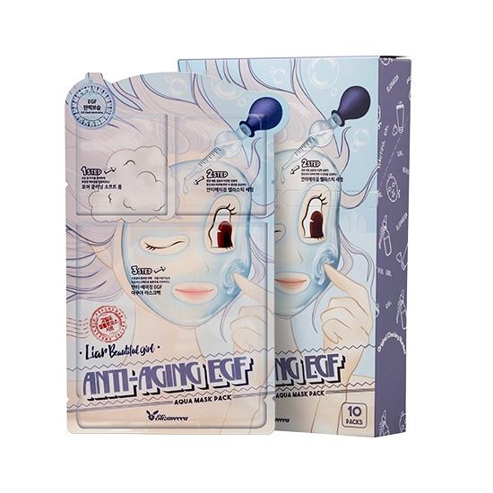 Трёх шаговая омолаживающая тканевая маска для лица Elizavecca
