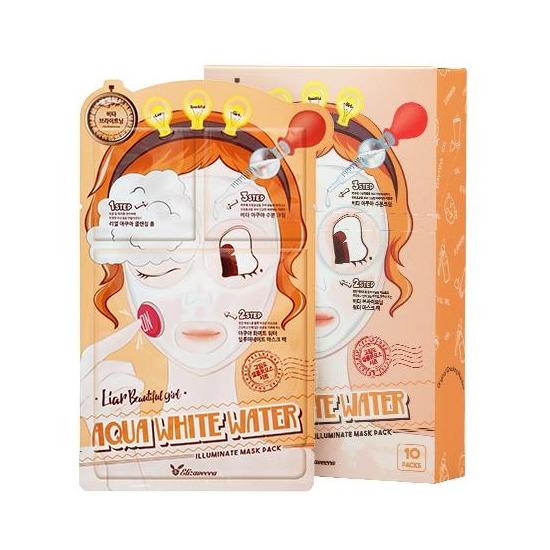 3-шаговая увлажняющая маска для лица 3-step Aqua White Water Mask Pack Elizavecca (фото)