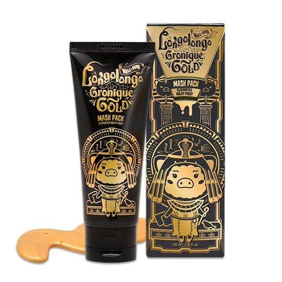 Маска-пленка с золотом Hell-Pore Longolongo Gronique Gold Mask Pack Elizavecca (фото)