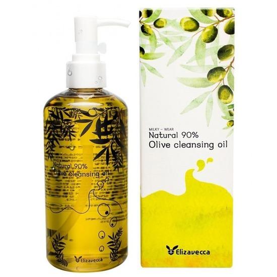 Гидрофильное масло с 90% содержанием натурального масла оливы Natural 90% Olive Cleansing Oil Elizavecca (фото)
