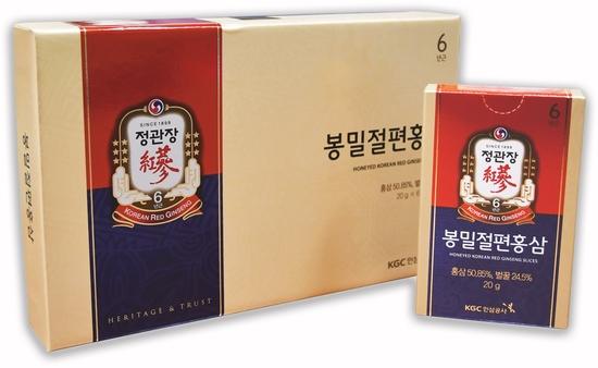 Корень корейского красного женьшеня в меду в виде слайсов (кусочков) Korean Red Ginseng Slices Cheong Kwan Jang (фото)