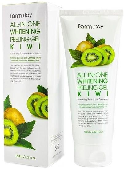 Осветляющий пилинг-гель с эктрактом киви All-In-One Whitening Peeling Gel Kiwi FarmStay (фото)