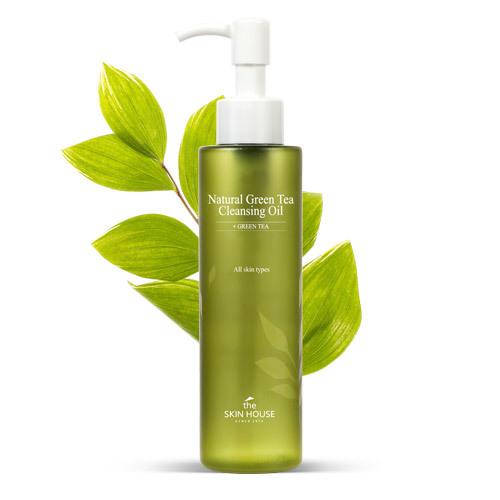 Гидрофильное масло с экстрактом зелёного чая Natural Green Tea Cleansing Oil The Skin House (фото)