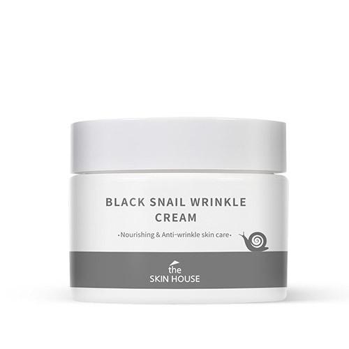 Питательный крем с коллагеном и муцином чёрной улитки Black Snail Wrinkle Cream The Skin House (фото)