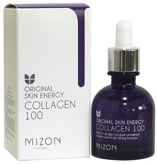 Сыворотка с 90% содержанием морского коллагена Original Skin Energy Collagen 100 Ampoule Mizon (фото)