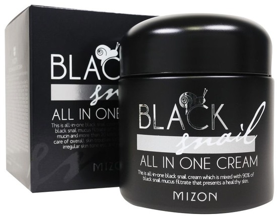 Многофункциональный премиум крем для лица с 90% экстрактом черной улитки Mizon (фото)