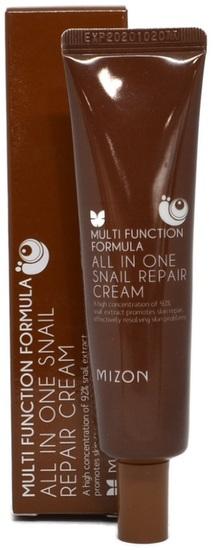 Крем для лица с 92% экстрактом улитки для проблемной кожи All in One Snail Repair Cream (Tube) Mizon (фото)