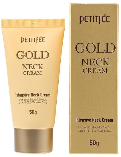 Крем для шеи и декольте с золотом Gold Neck Cream Petitfee (фото)