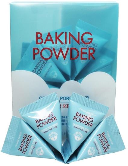 Скраб в пирамидках для очищения кожи лица с содой Baking Powder Crunch Pore Scrub Etude (фото)