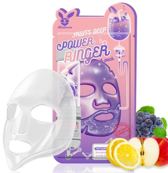 Тонизирующая тканевая маска для лица с фруктовыми экстрактами Elizavecca