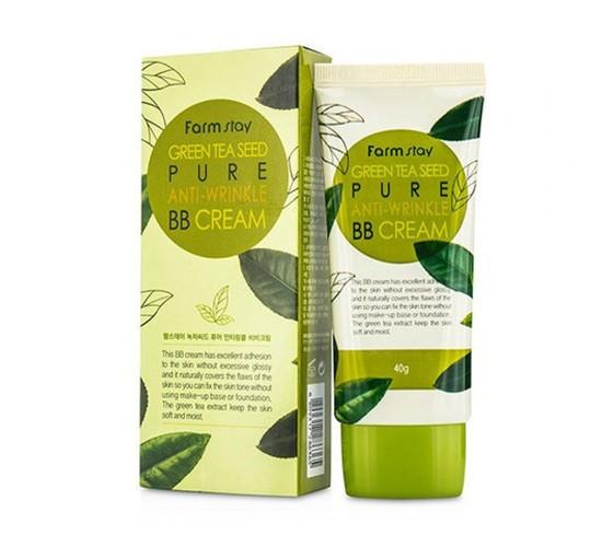 Антивозрастной ББ крем с семенами зеленого чая Green Tea Seed Pure Anti-Wrinkle BB Cream FarmStay (фото)