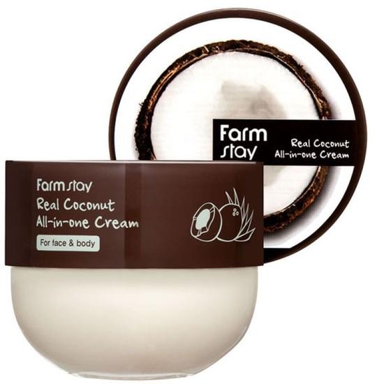 Многофункциональный крем для лица и тела с кокосом Real Coconut All-in-one FarmStay (фото)