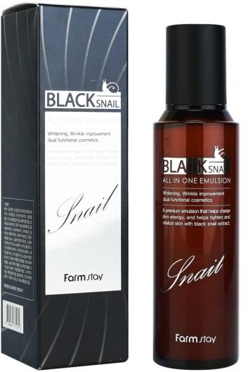 Эмульсия с муцином черной улитки Black Snail All In One Emulsion FarmStay
