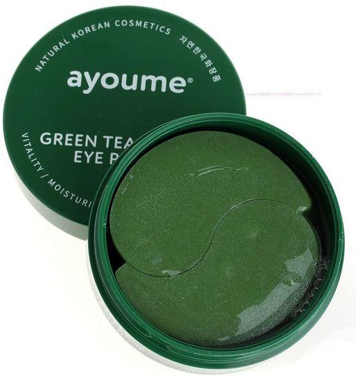Патчи для глаз от отечности с экстрактом зеленого чая и алоэ Ayoume (фото, Патчи для глаз от отечности с экстрактом зеленого чая и алоэ Ayoume)