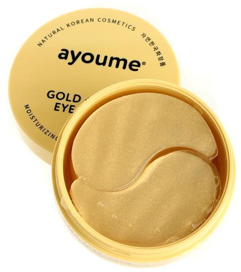 Омолаживающие патчи для глаз с золотом и улиточным муцином Ayoume (фото, Патчи для глаз омолаживающие с золотом и улиточным муцином Ayoume)