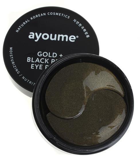 Патчи для глаз от темных кругов с золотом и черным жемчугом Ayoume (фото, Патчи для глаз от темных кругов с золотом и черным жемчугом Ayoume)