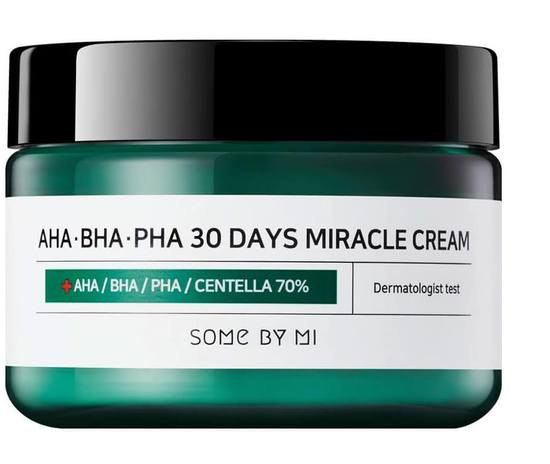 Крем с AHA, BHA, PHA кислотами для проблемной кожи Some By Mi (фото)
