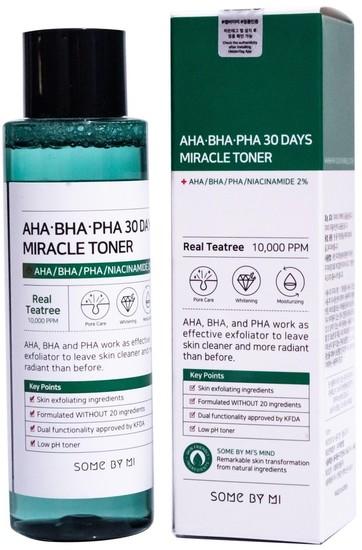 Тонер с AHA BHA PHA кислотами для проблемной кожи Some By Mi