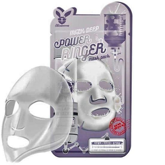 Осветляющая тканевая маска для лица с молочными протеинами Elizavecca