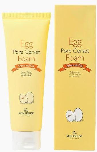 Пенка для глубокого очищения и сужения пор с яичным экстрактом The Skin House