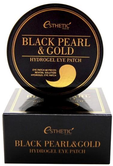 Гидрогелевые патчи для глаз с экстрактом чёрного жемчуга и золота Esthetic House (фото)