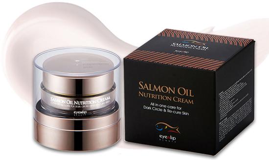 Питательный крем для лица с экстрактом лососевого масла Eyenlip (фото)