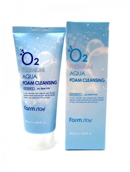 Кислородная увлажняющая пенка для умывания O2 Premium FarmStay