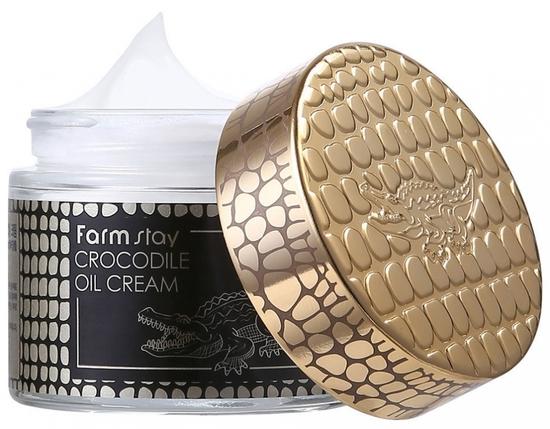 Питательный крем для увядающей кожи лица с крокодильим жиром FarmStay (фото)