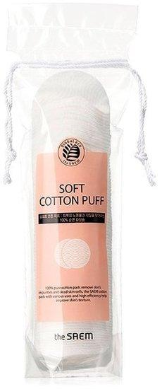 Косметические диски из 100% натурального хлопка Soft Cotton Puff The Saem