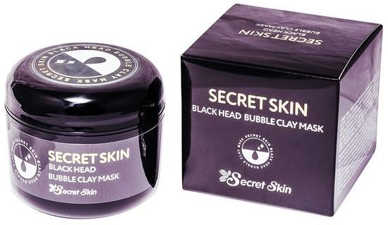 Маска для лица пузырьковая с черной глиной Secret Skin (фото)