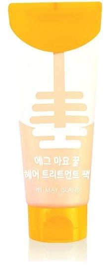 Питательная маска для блеска волос с экстрактом желтка и мёда May Island (фото)