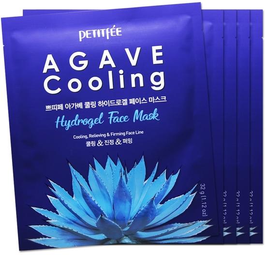 Охлаждающая гидрогелевая маска для лица с экстрактом агавы Petitfee (фото)