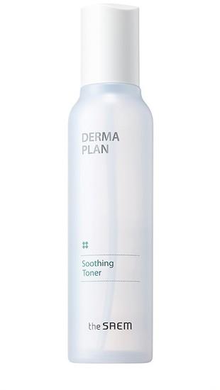 Тонер для чувствительной кожи лица Derma Plan Soothing Toner The Saem