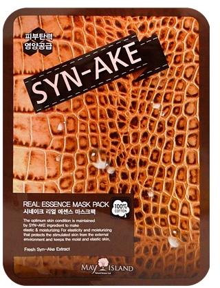 Тканевая маска для лица с экстрактом змеиного яда May Island